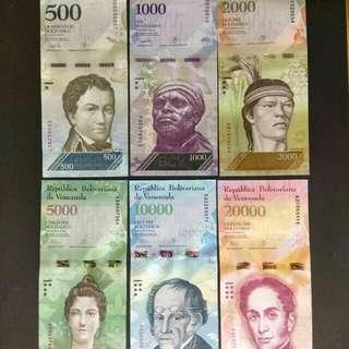 Venezuela unc banknotes