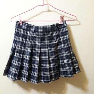 百摺格子裙
