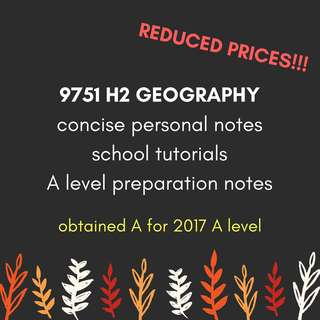 9751 H2 Geography Materials
