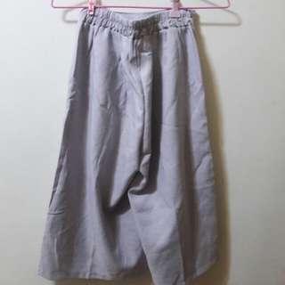 亞麻棕寬褲
