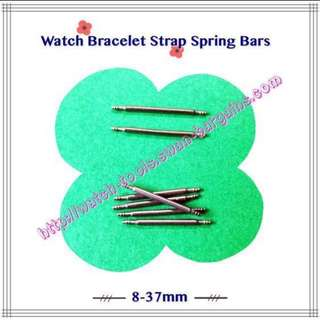 Stainless Steel Double Flange Spring Bars (8mm - 37mm) For Watch Band Strap Bracelets