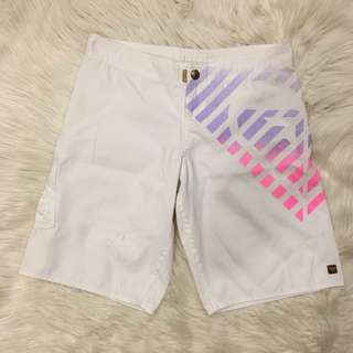Roxy white long boardshorts