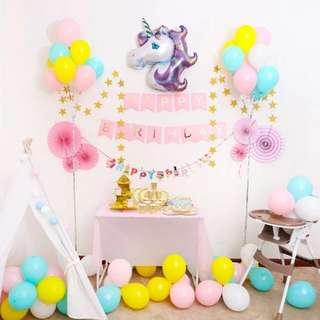 72pcs Unicorn Party Package Decor Set. Complete set! Unicorn Themed Party! Unicorn balloon