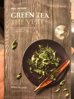 The face shop green tea the vert mask