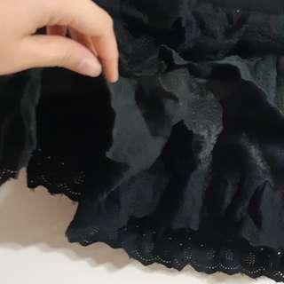 黑色蕾絲褲裙
