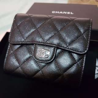 Chanel Classic Small Wallet 18C Iridescent Black