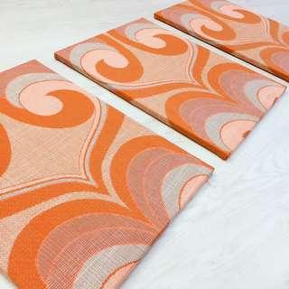 Vintage Fabric Textile Space Age MCM Midcentury frame
