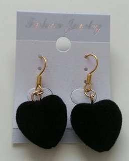 Black Heart Earring