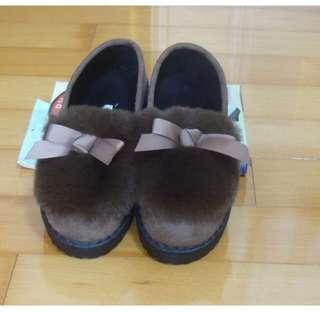 現貨 韓版 可愛 女鞋 毛毛鞋 平底鞋 娃娃鞋 蝴蝶結
