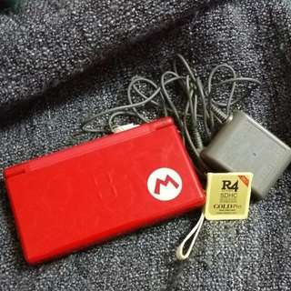 🚚 Nds Lite 馬力歐限量紅 + 燒錄卡
