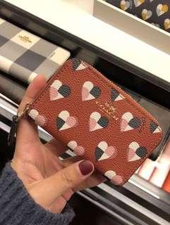 🇺🇸coach愛心系列防刮零錢包 卡片夾