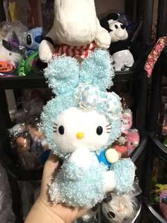 Blue bunny hello kitty