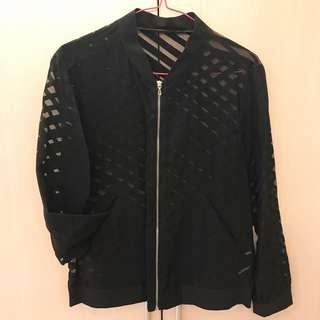 <免運>ZARA黑色鏤空造型罩衫