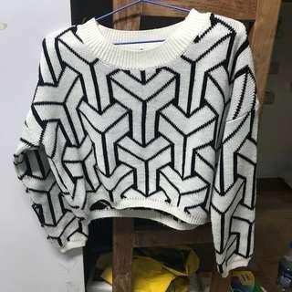 幾何圖毛衣