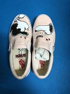 VANS史努比 懶人鞋 休閒鞋 帆布鞋 25cm 二手