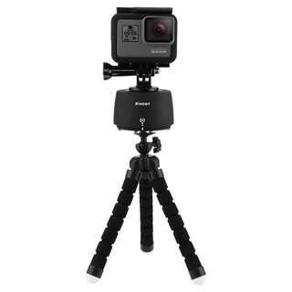 Shoot 360 degree time lapse pan and hit head for action cameras go pro,Sjcam;yi cam,digital cameras and smart phone