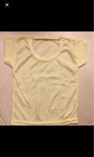 BN Baby Basic Top in soft yellow