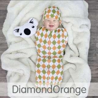Hybrid Zip Swaddle DiamondOrange