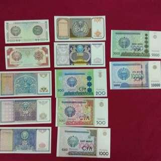 Uzbekistan 1994-2017 set -12 pieces