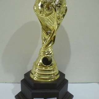 Football trophy with wording design