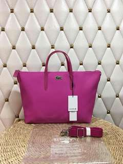 lacoste tote with sling authentic