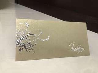Invitation card cover