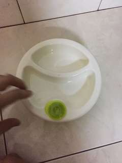 Baby bowl warmer with sticky pad