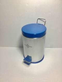 3公升 不鏽鋼垃圾桶 獨特藍色塑膠內桶