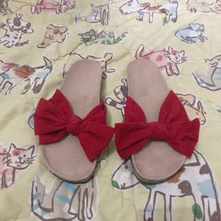 Sandals Ribbon Red