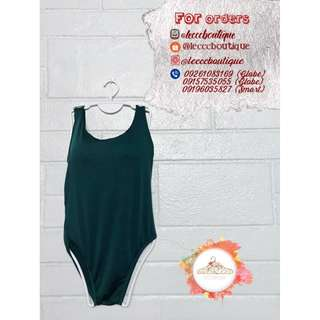 One-piece swimsuit (padded)  green