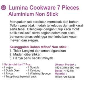 Cookware 7set alumunium