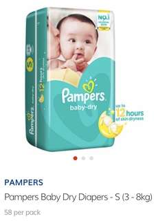 Pampers Baby Dry Diapers S 58