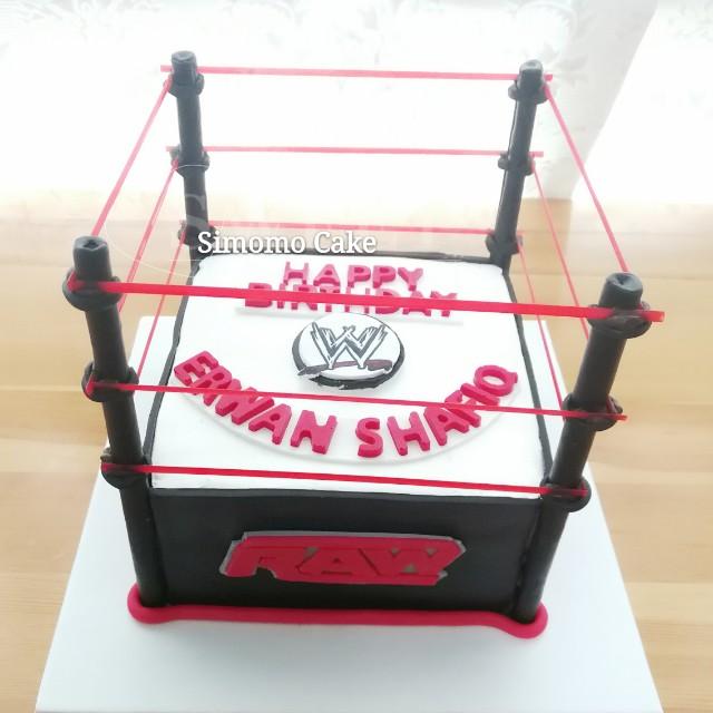Surprising 3D Wrestling Ring Birthday Cake Cream Cake Wwe Raw Wwf Ufc Free Personalised Birthday Cards Akebfashionlily Jamesorg