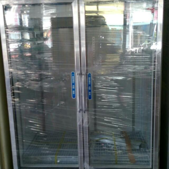 商業透明冷藏雙門冰箱