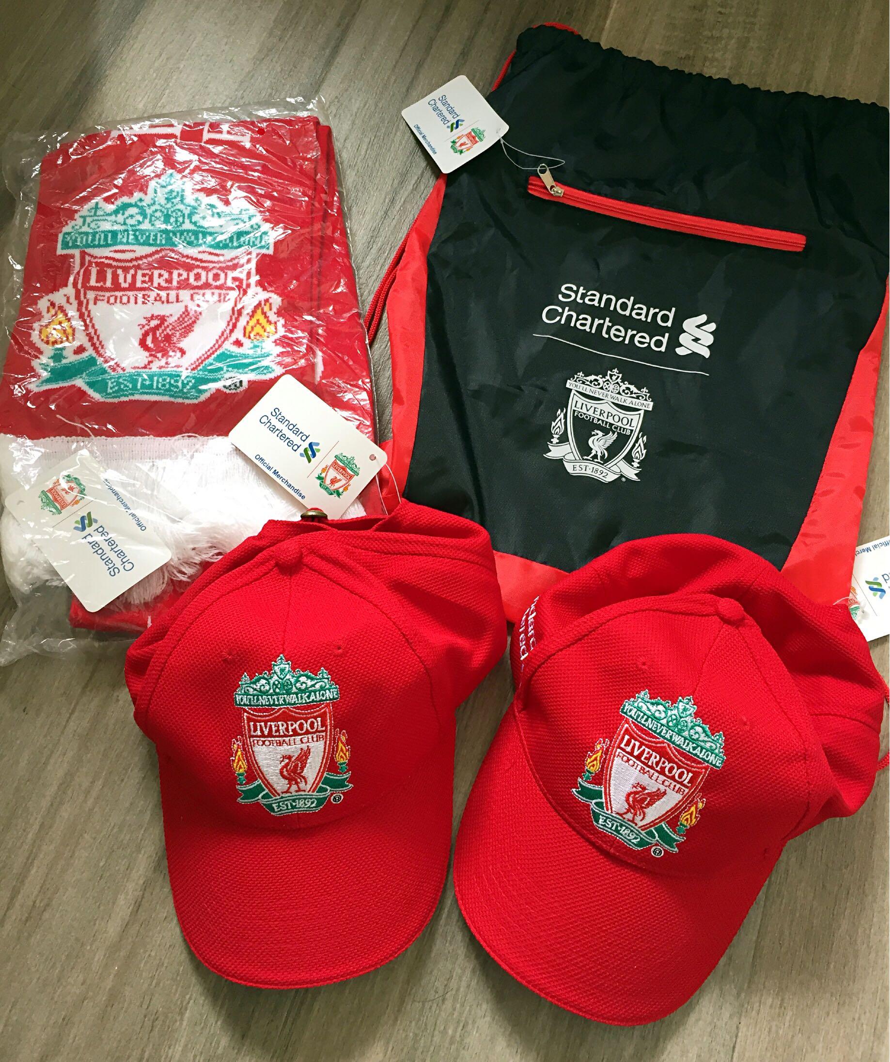 利物浦 Liverpool Cap帽 頸巾 袋