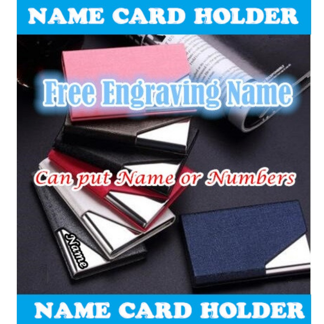 Meaningful gift free engraving name namecard holder personalized photo photo reheart Gallery