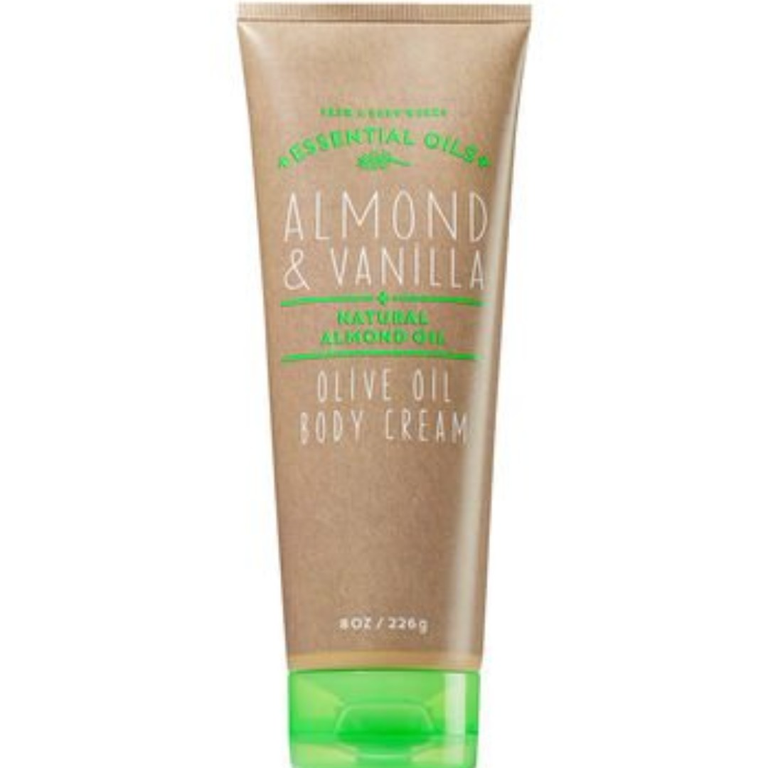 AUTHENTIC BATH & BODY WORKS ALMOND & VANILLA WITH OLIVE OIL BODY CREAM