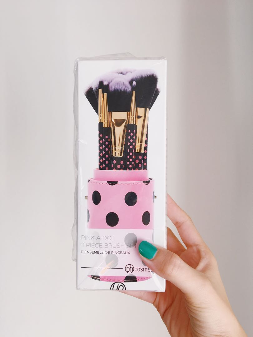 098a6eb1941f BH Cosmetics Pink-a-Dot 11 piece Brush set