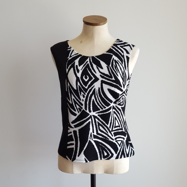 Black & White Patterned Top