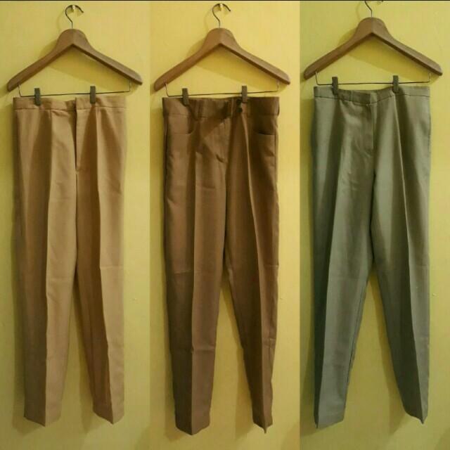 celana cino celana kerja celana bahan celana formal celana kantor celana kulot