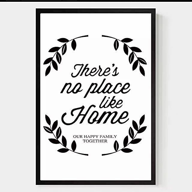 Creative Inspiration Quotes With Black & White Frame, Furniture on ...