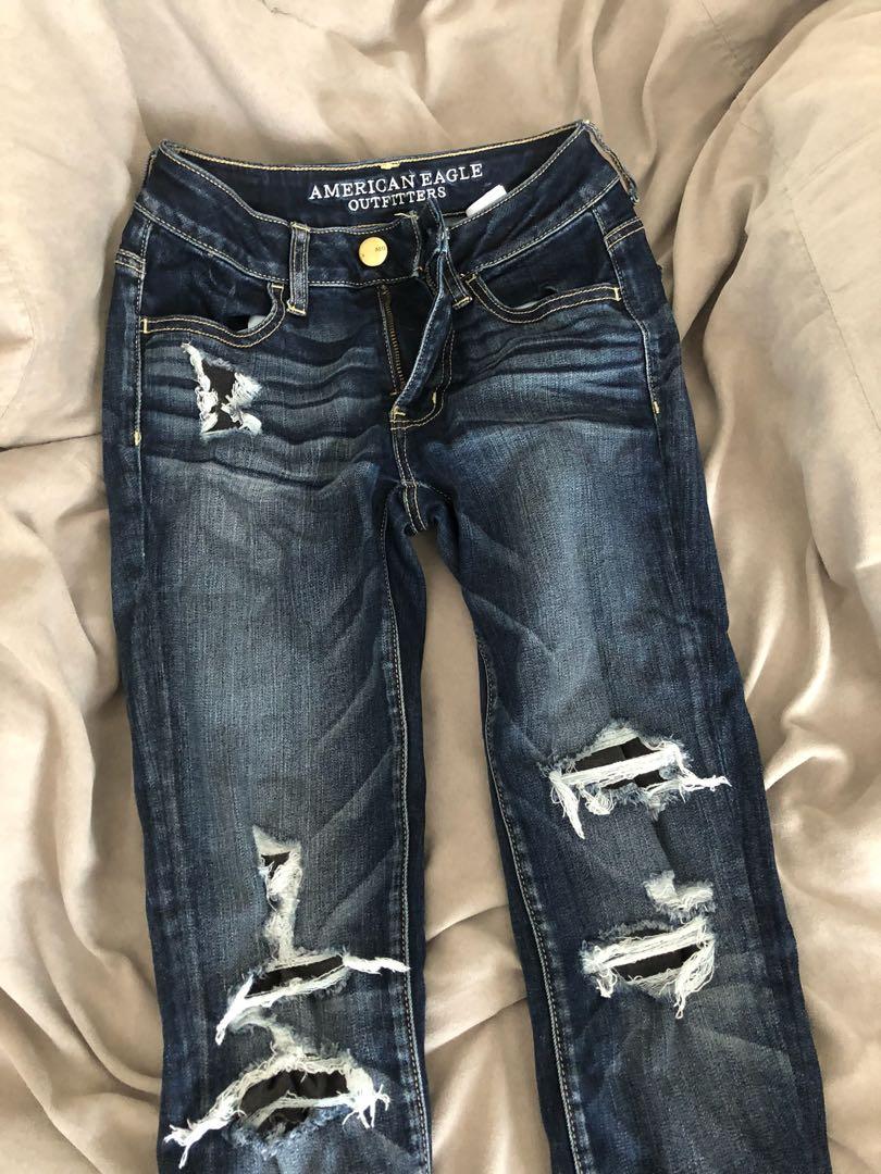 Dark wash AE jeans