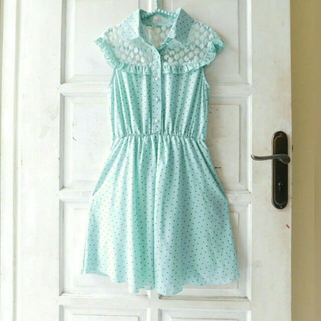 DRESS YOCO KOREAN LACEY LOVE