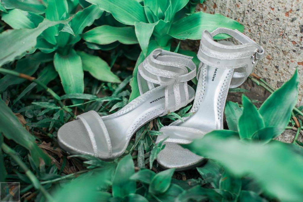 GIBI Silver high heels sandals