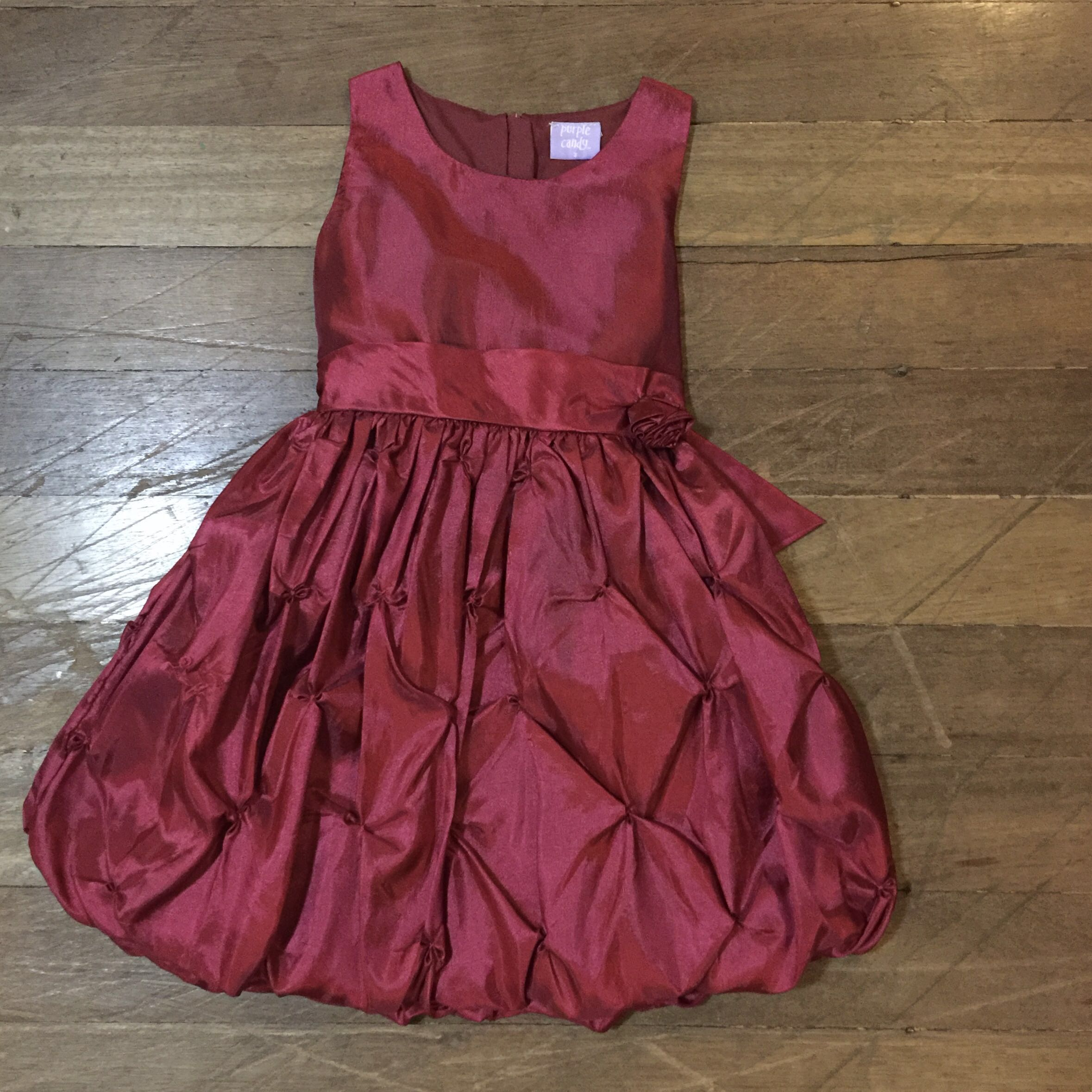 Girl Red Party Dress