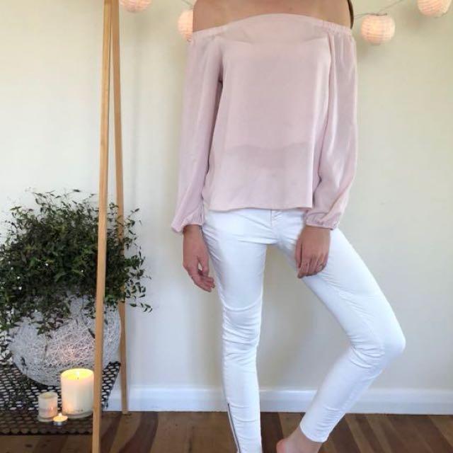 Glassons chiffon pink top