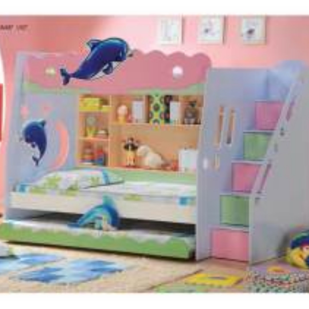 Hello Kitty Bunk Bed Home Furniture Furniture On Carousell