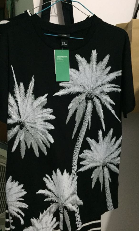 H&M Palm Black Tee