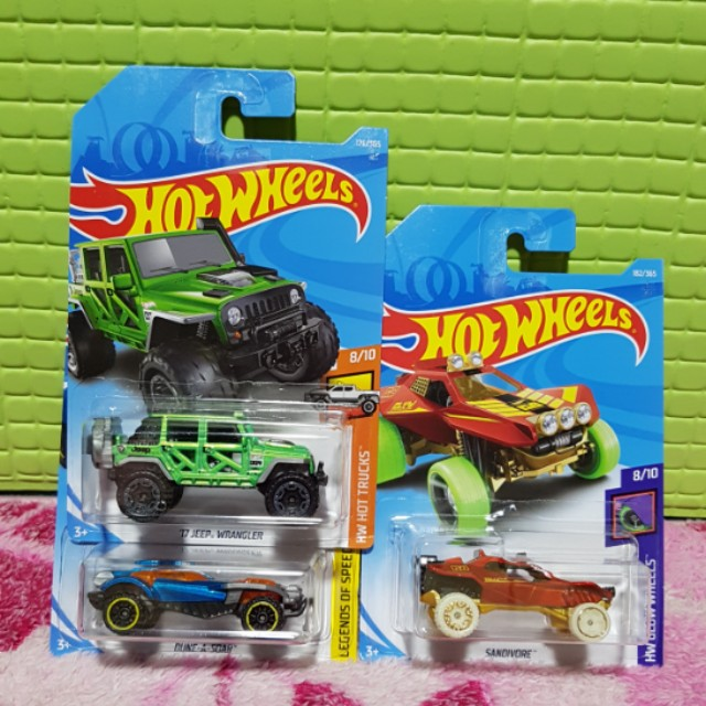 Hot Wheels 2018 Set of 3 cars 17 Jeep Wrangler