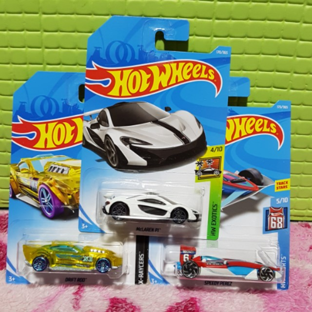 Hot Wheels 2018  Set of 3 cars,  McLaren P1